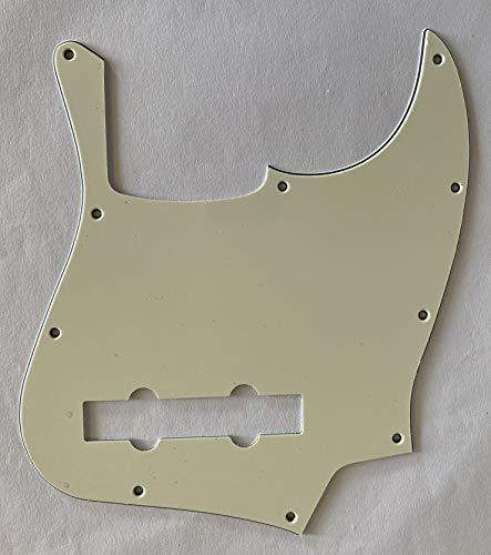 Para Fender US Jazz Bass 5 cuerdas estilo JB Golpeador de guitarra con placa de arañazos (3 capas, verde menta)