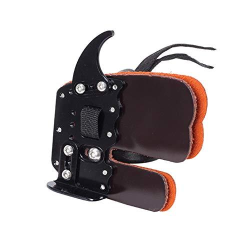 M.Q.L Pestañas de dedo de tiro con arco, pestañas de tiro con arco, engranajes protectores, protección de dedo de tiro protector de cuero para tirador recurvo para diestros.