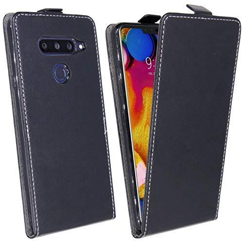 cofi1453 Klapptasche Schutztasche Schutzhülle kompatibel mit LG V40 ThinQ Flip Tasche Hülle Zubehör Etui in Schwarz Tasche Hülle