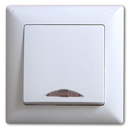 Schalterprogramm Gunsan Visage weiß (Schalter Ein-/Ausschalter mit Beleuchtung)