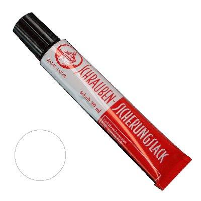 Schraubensicherungslack 20 ml. in Tube transparent - Sicherungslack - Schraubenkleber