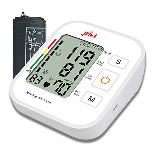 Oberarm Blutdruckmessgerät,Huttoly Blutdruckmessgerät für Oberarm mit Arrhythmie-Erkennung und Pulsmessung,WHO-Ampel-Farbskala, für präzise Blutdruckmessung und Pulsmessung mit Speicherfunktion