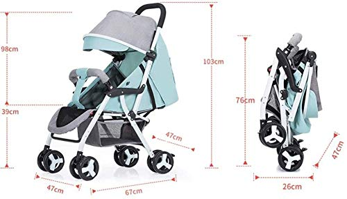 LAMTON Baby Stroller for Newborn, Baby Stroller Buggies Pushchair, Suitable for Children from 0 to 36 Months /20KG,47x67x103cm (Color : Purple) LAMTON Adjustable handlebars for people of all heights can adjust the most comfortable push position Easy to fold, can be picked up in the trunk of the car, his parents urge him to go shopping, travel, walk, play and talk, or picnic outdoors ★The body is made of high-quality steel pipe, strong and durable, strong load-bearing, soft pedals, safe and environmentally friendly, will not scratch the baby, strong toughness and durability 3