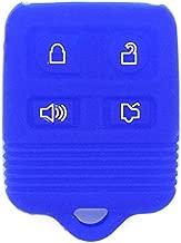 SEGADEN Silicone Cover Protector Case for Ford Lincoln Mercury 4 Button Remote Key Fob CWTWB1U345 CWTWB1U331 GQ43VT11T CV9705 Deep Blue