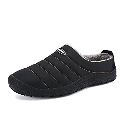 Amazon - 50% Off on Mens Slippers Warm Winter Flats Shoes for Womens Indoor House Slip on