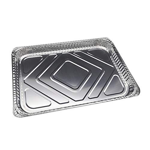 Cabilock Einweg-Pfannen aus Aluminium, ungiftig, umweltfreundlich, rechteckig, Aluminiumfolie, Aluminium-Folie, Grill-Einsatz