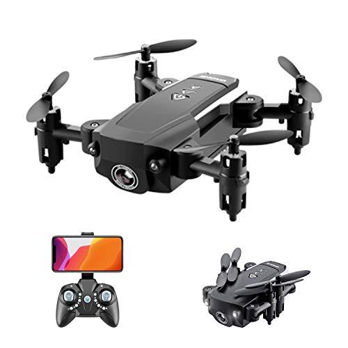 docooler KK8 Mini-Drohne RC Quadcopter 720P HD-Kamera 15 Minuten Flugzeit 360-Grad-Flip 6-Achsen-Kreiselhöhe Headless-Fernbedienung für Kinder oder Erwachsene Training 1 Batterie