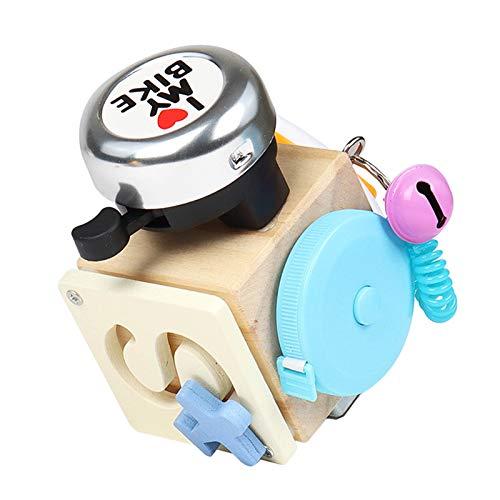 dbsdfvd 2021 Nuevos Cubos De Actividad De Madera para Bebés-Aprender Habilidades Básicas para La Vida,Viaje A Cubo De Actividad Ocupado,Juguete De Desarrollo,Cubo De Tabla Ocupado para Niñ (C)
