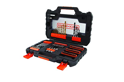 Black+Decker A7231-XJ A7231-XJ-Juego atornillar y taladrar, 0 W, 0 V, Set de 76 Piezas