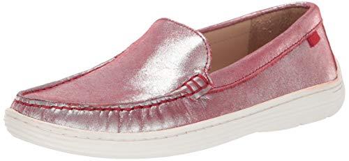 MARC JOSEPH NEW YORK Unisex Kids Boys/Girls Leather Broadway Loafer, red Glimmer, 12 M US Little