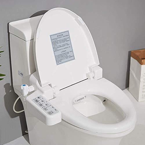 Bidé WC eléctrico inteligente cubierta, calefacción de asiento de inodoro inteligente completamente...