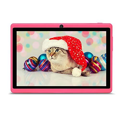 Haehne 7 Pollici Tablet PC, Google Android, Quad Core, Doppia Fotocamera, WiFi, Bluetooth, Per Bambini e Adulti, Rosa