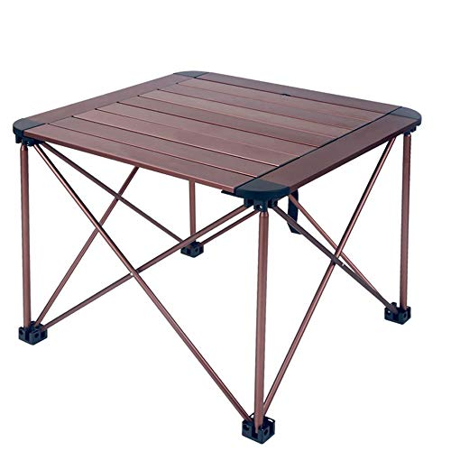 ZA outdoor draagbare klaptafel, aluminiumlegering, ultra light picknicktafel, camping beach-cookouts, opklapbare rol-up tafel met draagtas