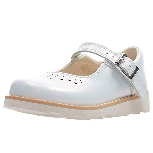 Clarks Mädchen Crown Jump K Geschlossene Sandalen, Weiß (White Interest), 30 EU