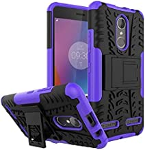 Dgxd Applicable to Lenovo K6 dazzle pattern bracket mobile phone case a6000 2-in-1 tire pattern clear water sleeve anti slip and anti falling sleeve(Purple, Lenovo P2)