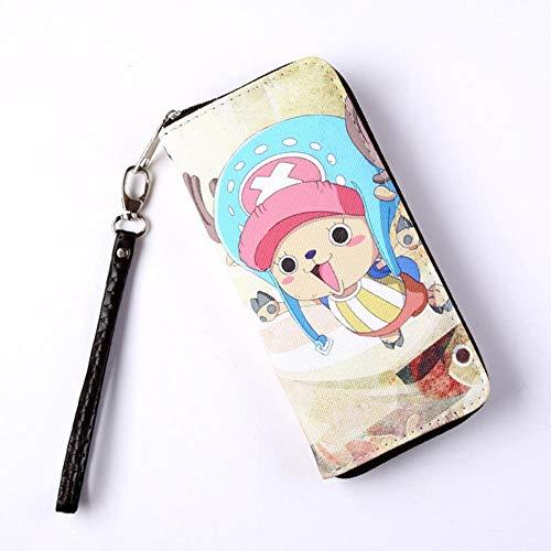 pZgfg Anime Purse Wallet Pu Leder Farbe Zip Long Wallet 20X9X2,5Cm One Piece-Chopper