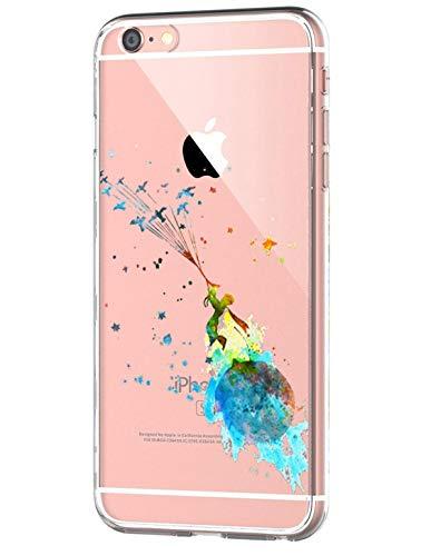 Caler iPhone 6 Plus Funda iPhone 6s Plus Caso Slim Cases Carcasa Cáscara Cover Case Flexible TPU Adorable Caprichoso Protección para Apple iPhone 6 Plus/ iPhone 6s Plus (Príncipe Principito)
