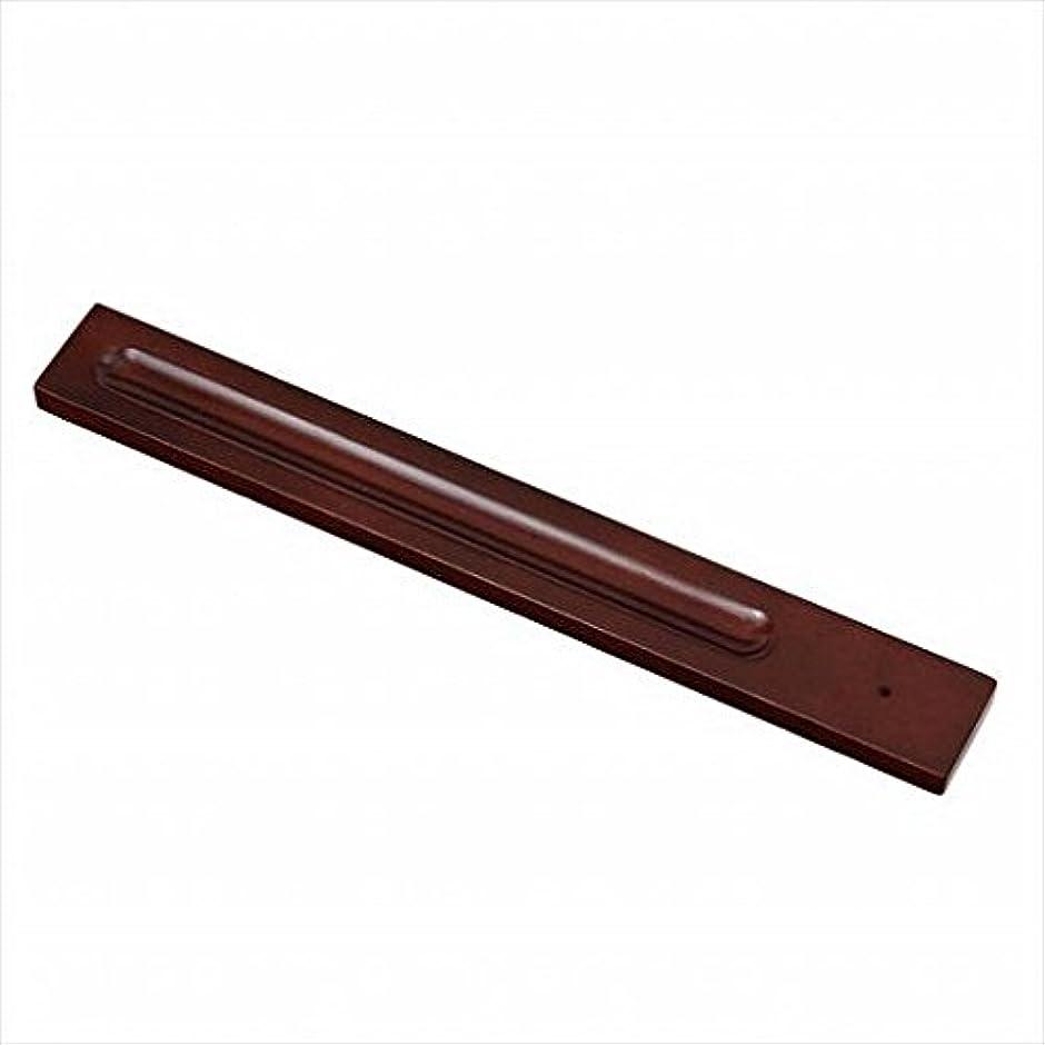 若者独裁リングレットkameyama candle(カメヤマキャンドル) バンブーインセンス用ホルダースクエア 「 ブラウン 」 キャンドル 30x246x9mm (E3130000BR)