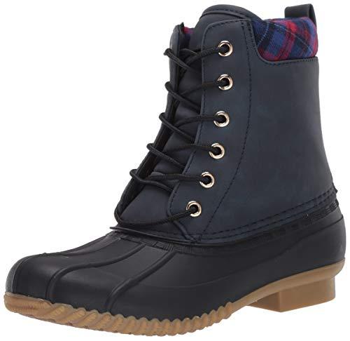 Tommy Hilfiger Women's RUSSELS Rain Boot, Blue Multi, 8
