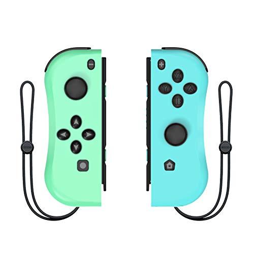 Wireless Joy Con Controller für Switch Replacement Joystick Kabelloser Bluetooth Remote-Gamepad mit Dual Motor Axis Gyro(green/blue)