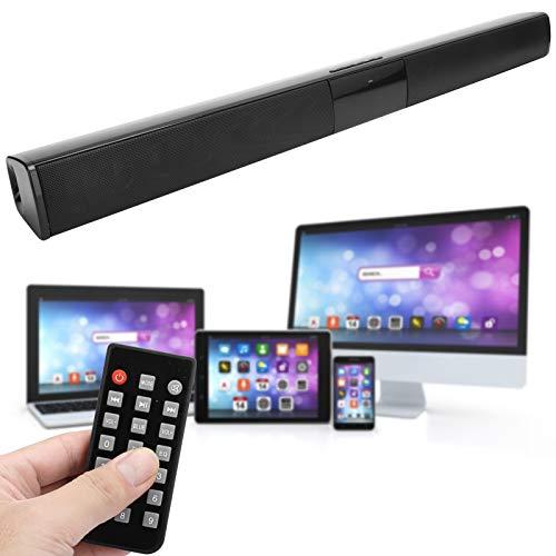 BS ‑ 28B Altavoz Bluetooth V4.0, TV estéreo Tarjeta inalámbrica Música Audio Escritorio Barra de Sonido Larga, con 4 Altavoces de Rango Completo
