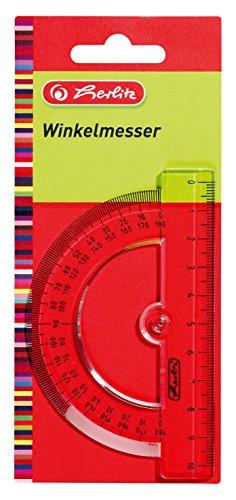 Herlitz Winkelmesser 10 cm, Kunststoff, 1 Stück in Klarsichtpackung