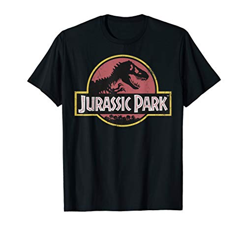 Jurassic Park Original Fossil Distressed Faded Logo T-Shirt