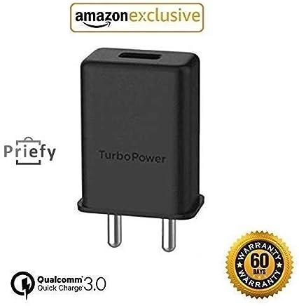 Priefy Micro USB Turbo Power 3.0 Ampere 25 W Mobile Adaptor - Black