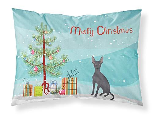 Caroline Treasures - Fundas de Almohada estándar para Perro, diseño de árbol de Navidad, Multicolor