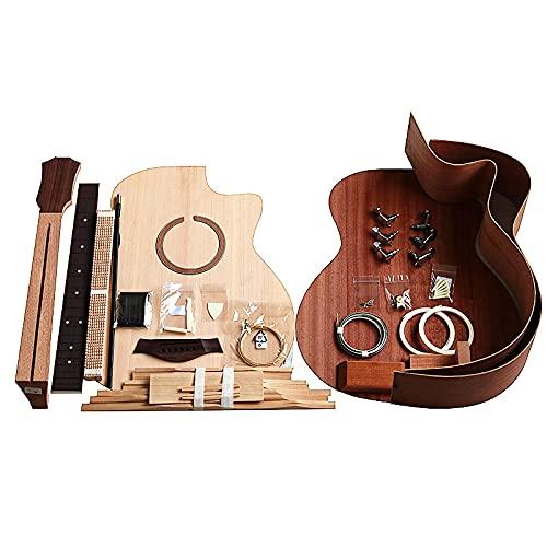 KEPOHK 41 pulgadasGuitarra DIY Folk Ballad Paquete de accesorios para una sola guitarra Abeto Madera maciza Parte posterior contrachapada 41 pulgadas 41GAC