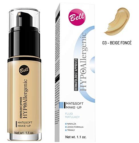 Bell HYPOAllergenic, MatSoft Makeup 3 30 g, Sunny Biege, 31 g