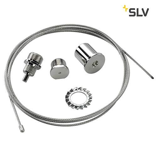 SLV draadkabelhanging indoor lamp aluminium/staal zilveren lamp binnen, binnenlamp