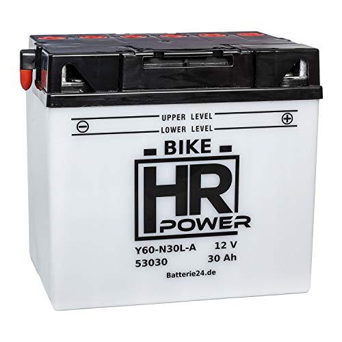 Motorrad Batterie Starterbatterie 12V 30Ah Y60-N30L-A 53030