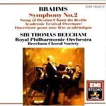 Sir Thomas Beecham conducts Brahms Symphony 2, Schicksalslied op 54, Academic Festival Overture op 80 EMI
