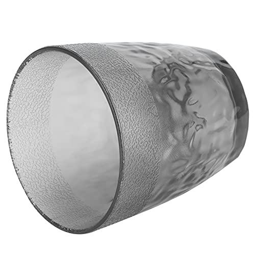 Surebuy Taza de té de Flores, Tazas Transparentes Reutilizables acrílico Transparente para la Cocina casera(Gris)