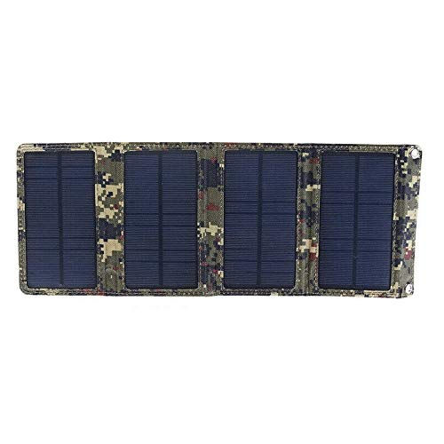 KUYHA Paquete de BateríA de Cargador de Panel Solar Plegable de 20W con Puertos USB Cargador de Panel Solar a Prueba de Agua Cargador de BateríA MóVil A