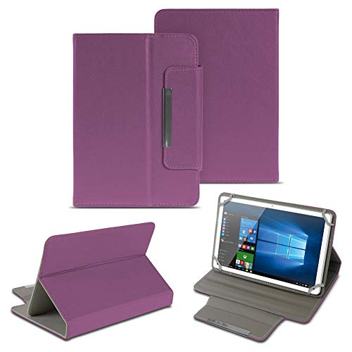 NAUC Universal Tasche Schutz Hülle 10-10.1 Zoll Tablet Schutzhülle Tab Case Cover Bag, Farben:Lila, Tablet Modell für:Odys Score Plus 3G