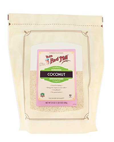 Bob's Red Mill Shredded Coconut (Unsweetened), 24-ounce (Pack of 4, Stand up Pouch)