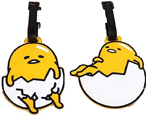 5' 2pcs Lazy Eggs Luggage Tags Charms For Travel Collectiable