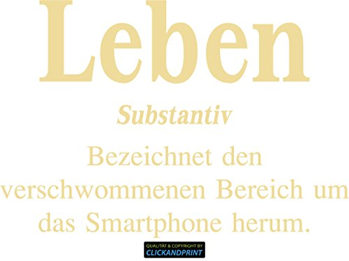 CLICKANDPRINT Aufkleber » Definition Leben, 170x115,8cm, Creme • Dekoaufkleber / Autoaufkleber / Sticker / Decal / Vinyl