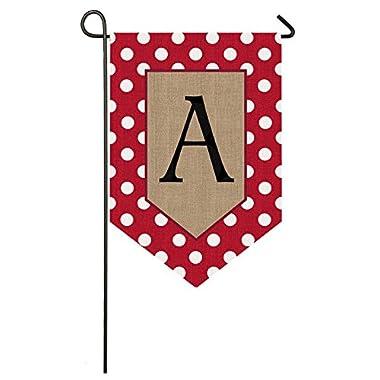 Evergreen Enterprises 14B3477AFB Polka-Dot Welcome Monogram Garden Flag