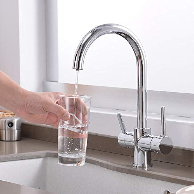 360-Grad-Drehung Messing trinken gefiltertes Wasser Küchenarmatur Wasserhahn Spüle Wasserhahn