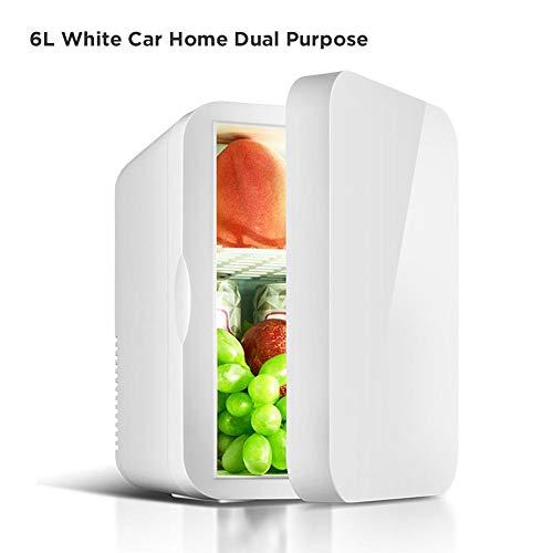 urbenlife Mini Refrigerador Y Calentador De 6 litros De Litro, Nevera Portátil Eléctrica Súper Mini Portátil Caja Fría 12V/220V para Viajar Y Hogar