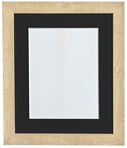FRAMES BY POST 6 x 4 inch diep korrel fotolijst, met zwarte passe-partout, voor 4 x 3 inch) fotolijst, lichtbruin