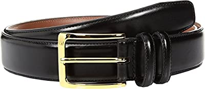 Johnston & Murphy Mens Smooth Basic Belt (36 - Black)