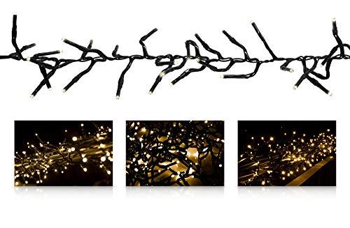 LED Universum Büschellichterkette mit 480 warmweißen LEDs und einer Länge von ca. 7 Metern, für innen und außen, 3 Meter Zuleitung, IP44, perfekt für Weihnachtszeit, Hochzeiten oder Gartenfeiern