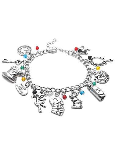 Alice nel paese delle meraviglie braccialetto Charm Drink Me Alice Hat Brand Jewelry regalo per donne alla moda Film Jewelry