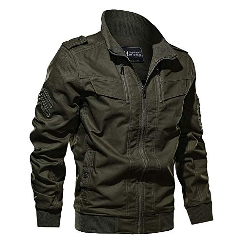 WOW-coat Cotton Military Jacket Men 2019 Herbst-Frühlings-Mantel-Soldat MA1 Artarmeegrünsegeltuch Jacken Männer Marke Herren Bomberjacken...