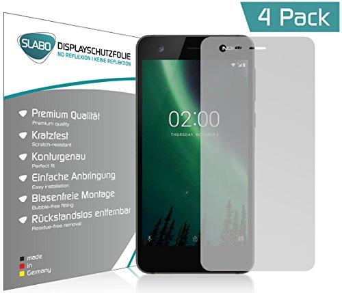 Slabo 4 x Bildschirmschutzfolie für Nokia 7 Plus Bildschirmfolie Schutzfolie Folie Zubehör No Reflexion MATT