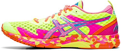 ASICS Gel-Noosa Tri 12, Zapatillas para Correr Mujer, Safety Yellow Dragon Fruit, 38 EU